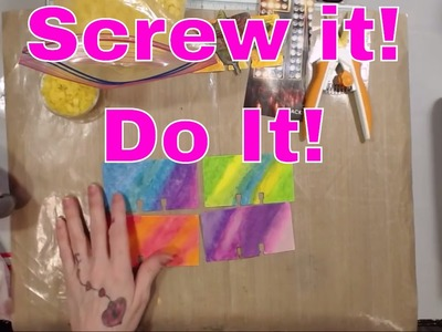 Live Stream - Screw it and Do It!! Lets Create Together!! Rolodex cards and Journal work!