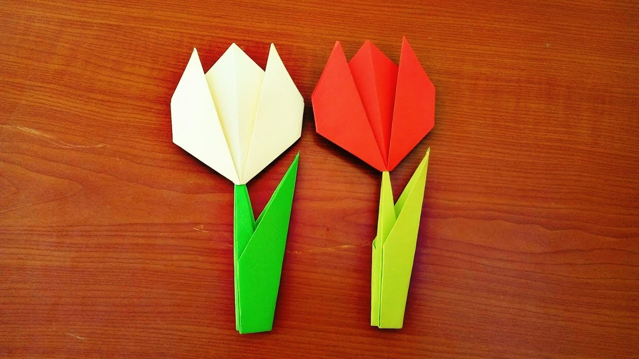 Easy Origami Tulip Flower Instructions Flowers Healthy