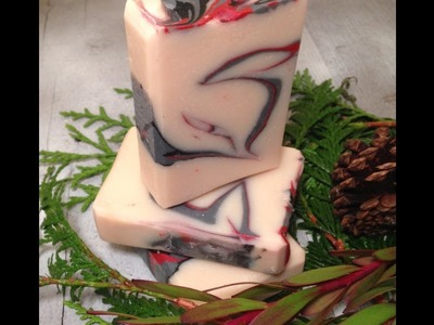 Making 2 Soaps In 1! On-the-fly Improvising- divide a soap loaf mold! Cold process soap swirl design