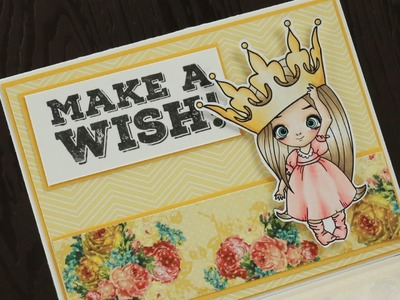 Miss Lilly Big Crown - Copic Colouring & Card Tutorial