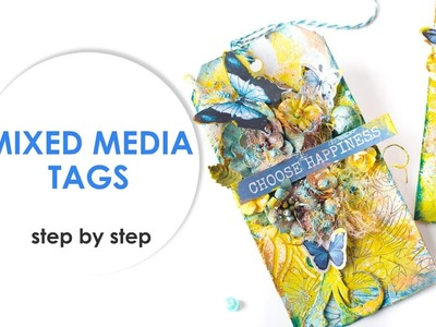 Mixed media Tags|Step by step tutorials|Scraps Of Darkness April Kit