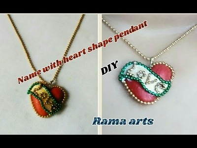 Name with heart shape pendant - making of pendant | jewellery tutorials