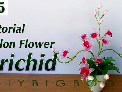 Nylon stocking flowers tutorial #5, How to make nylon stocking flower step by step
