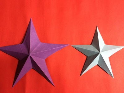 | Origami 3D  Star | How to Make a 3D Paper Star | 3D paper Star Full Tutorial