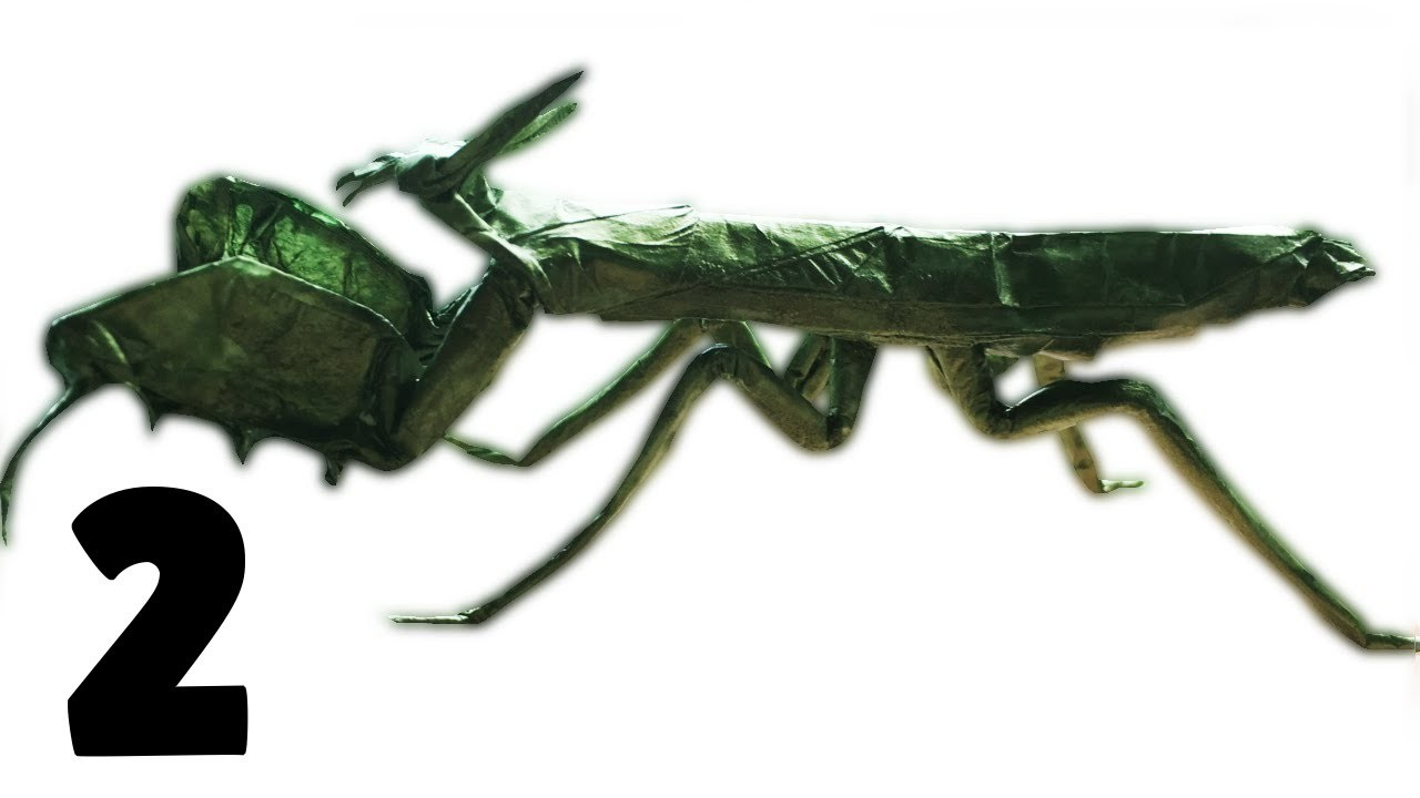 Origami Boxer Mantis Tutorial (Manuel Sirgo) Part 2.2 (Most Voted For!!!)