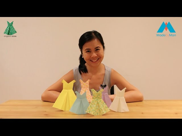 Origami DRESS folding Instructions Guide by Made by Man