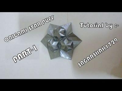 Origami Star Puff Tessellation Tutorial Part-1