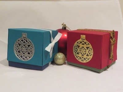Ornament Window Gift Box, Video Tutorial using Stampin' Up Products