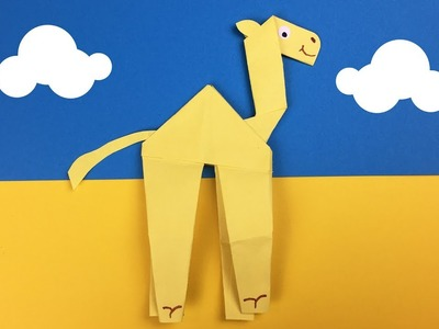 Paper camel craft from one piece of paper | Easy creative activity to do with kids