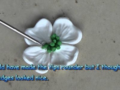 Polymer Clay: Dogwood Flower Earrings