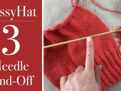 PussyHat: 3 Needle bind-off
