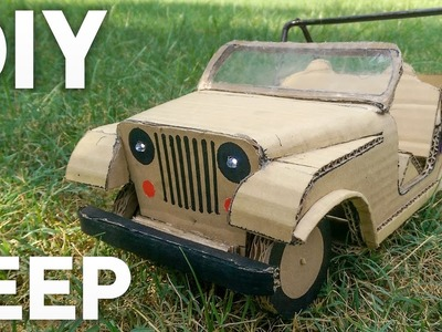 RC Mini JEEP – DIY at Home – Cardboard JEEP – How to make Electric Toy Car