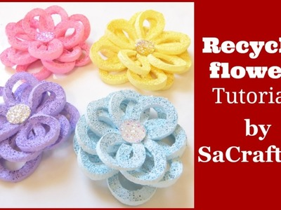 Recycle flower tutorial by SaCrafters