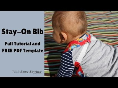 Reversible Stay On Bib - Step by Step Instructions