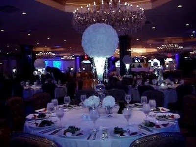 Rose Ball & Floating Candle Centerpieces 2015 Yorktown Prom Surf Club New Rochelle NY