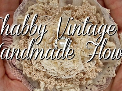 Shabby Vintage Handmade Flower for Ooh La La Vintage Treasures DT