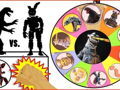 Shin GODZILLA vs Five Nights at Freddy's GAME | Surprise Godzilla + FNAF Toys | Slime Wheel Games #1