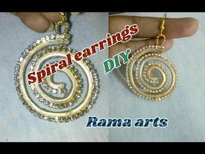 Spiral earrings - How to make earrings   jewellery tutorials