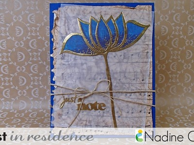 Stained Glass Effect on Cards Using Vellum & Markers *
