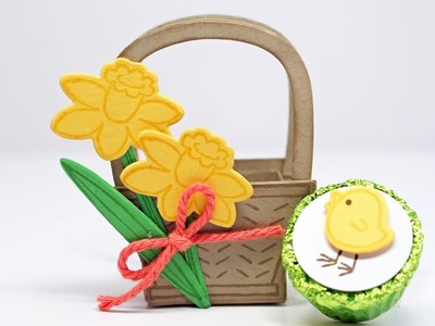 Stampin' Up! Basket Bunch Easter Basket Treat by Kitchen Table Stamper