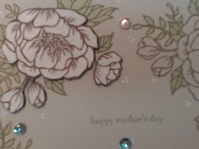 Stampin' Up! with Connie-Rae. Mothers Day Blooms Card with Sahara Sand