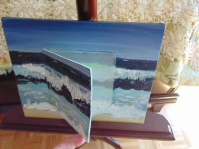 Step by Step Beginner Embedded Card. Acrylic Painting. Magnetized