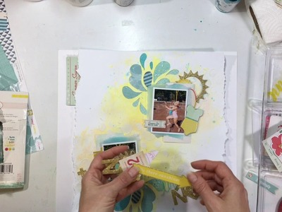 "Summer Scrappin' Day 11- ""Scrapbooking Process #105- ""Splash Pad"""
