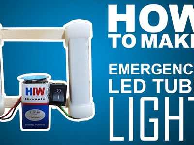 Super Bright Emergency Led inverter for home DIY - EASY WAY