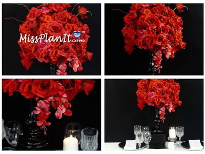 Tall Wedding Centerpiece. DIY. How To Create A Tall Rose Garden Candlestick Centerpiece