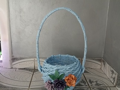 Tutorial cos din ziare pe balon--Basket tutorial balloon newspapers