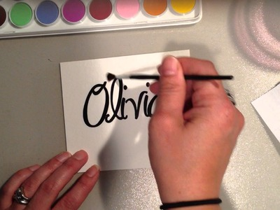 Using Vinyl to create a Personalized Watercolor Cards