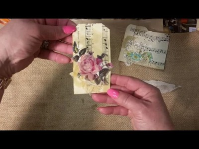Vintage Mini bag booklet, beeswax tutorial
