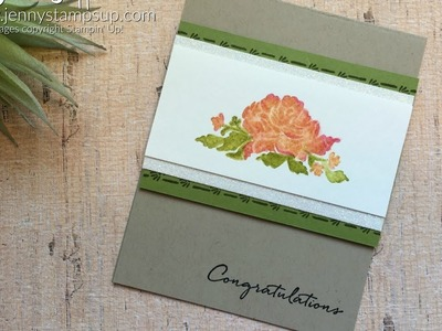 Watercolor floral with markers using Stampin Up products with Jenny Hall