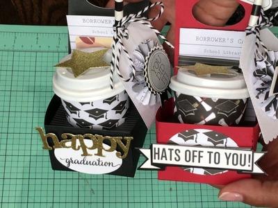 WE R Memory Keepers Treat holder Die - DIY Graduation Gift Holder. treat holder