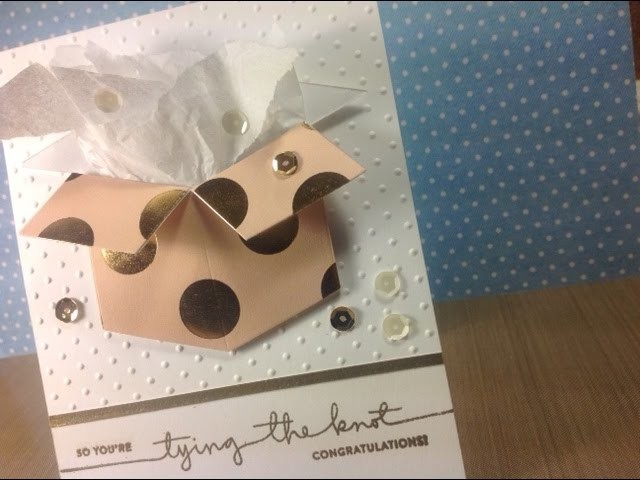 Wedding. Bridal Shower Card using Neat and Tangled Box Die