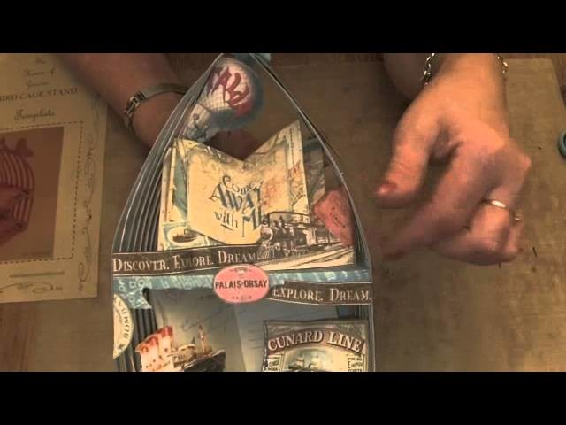 Whimsical Come Away With Me Bird Cage - Graphic 45