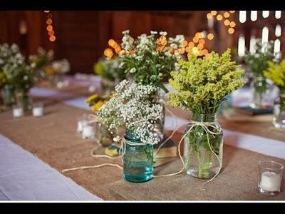 Wildflower Mason Jar Centerpieces