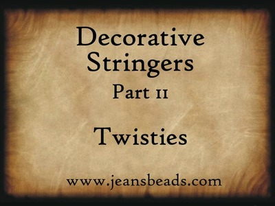 Working with Glass, Decorative Stringers 2 by Jeannie Cox