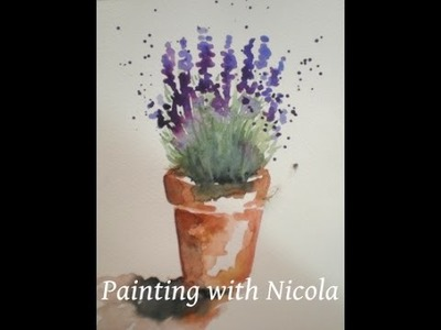 You can paint this  'Pot of Lavender', in watercolours, in 10 minutes. Learn more goo.gl.f8msrD