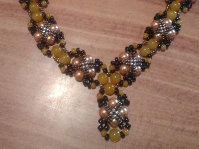 2da collar de perlas y chaquiras