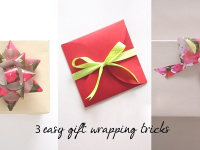 3 Easy Gift Wrapping Tricks