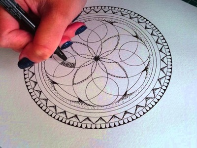A new Mandala design from start to finish