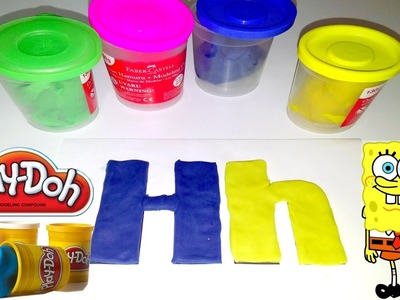"ABC Play Doh, letters ""H"" Play Doh Funny Alphabet Education"