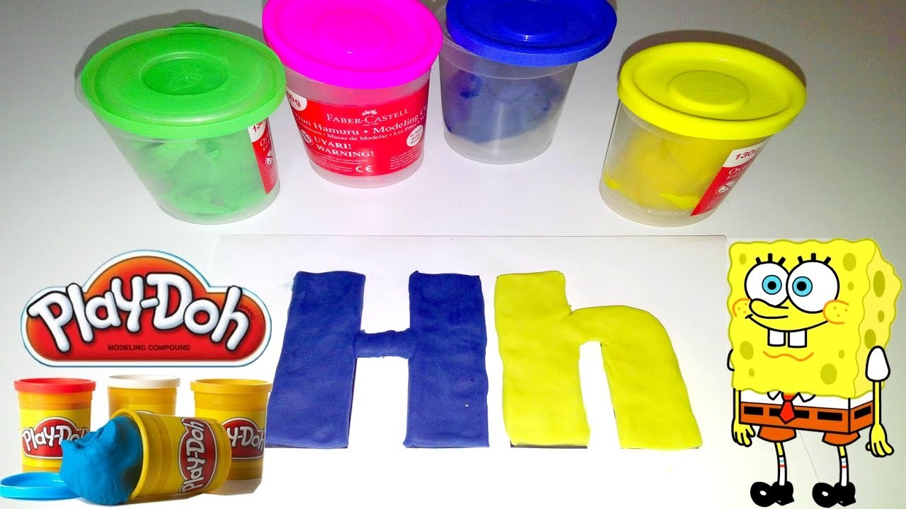 """ABC Play Doh, letters """"H"""" Play Doh Funny Alphabet Education"""