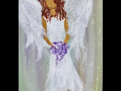 Angel Acrylic Painting Easy Step by Step Part One Live!