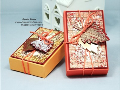 AUTUMN WATCH COPPER EMBOSSED GIFT BOX - SandraR UK Stampin' Up! Demonstrator Independent