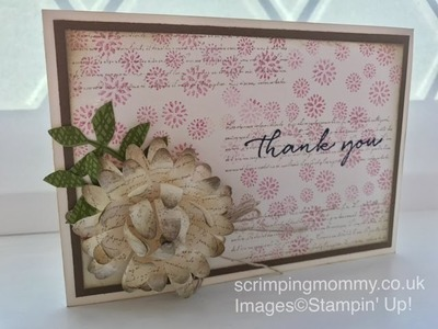 Background bits and a special flower Stampin' Up! products