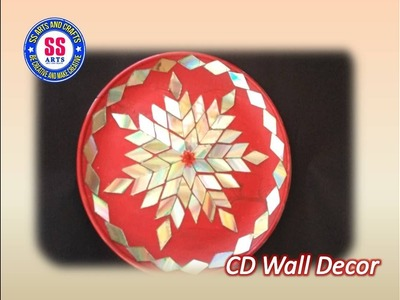 Best out of the waste.How to make plate decoration using with cd's.recycled cd wall decor