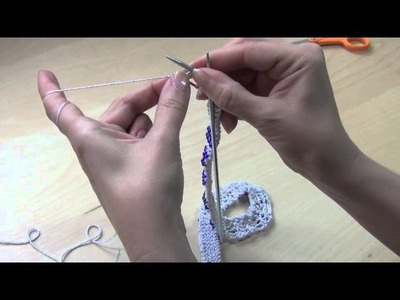 Binding off onto a clasp
