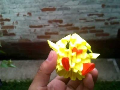 Chiken o pollito origami 3D